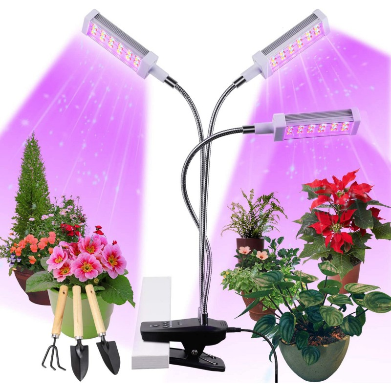 Growlight lampa na rostliny 72W, 144 LED s klipsem